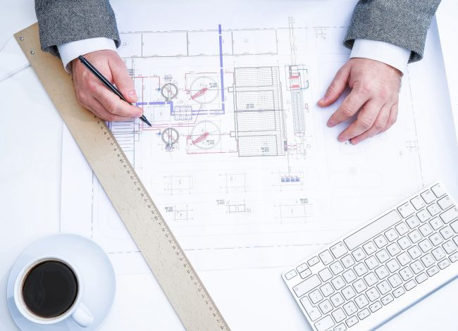 Blueprint of Custom Home Design
