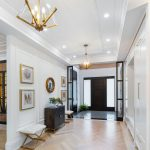 amazing-hallway-with-baseboard-trim-and-waffle-ceiling-custom-homes