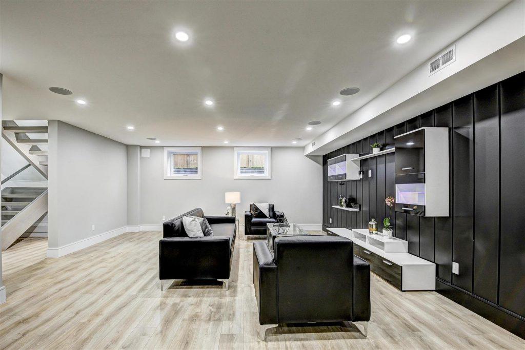custom-basement-family-room-with-baseboard-trim-basement-renovations-toronto