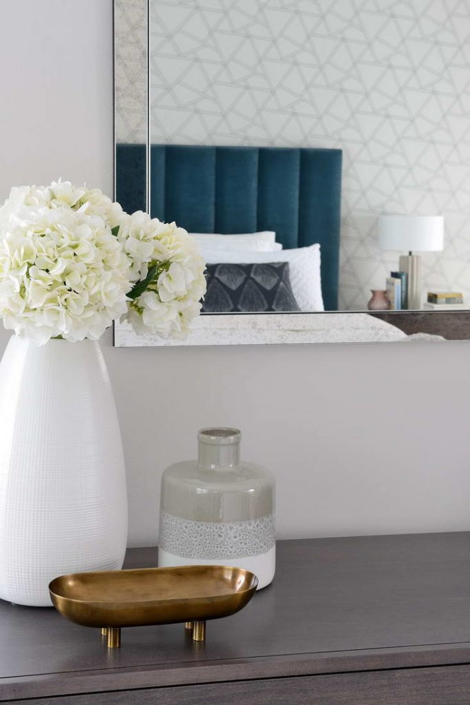 custom bed cabinet with wall mirror - home renovations contractors