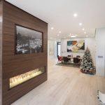 custom-hallway-with-build-in-fireplace-and-potlights-interior-designers-toronto