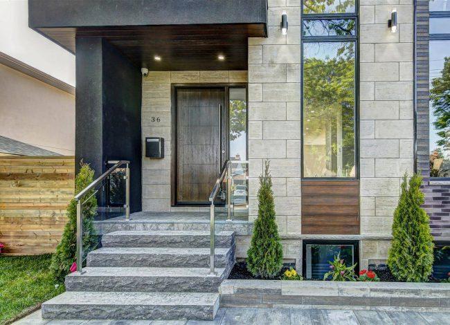 Modern Custom Home with Amazing Stone Siding