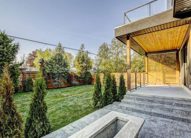 Luxury Backyard in Custom Home by Nicks Developments