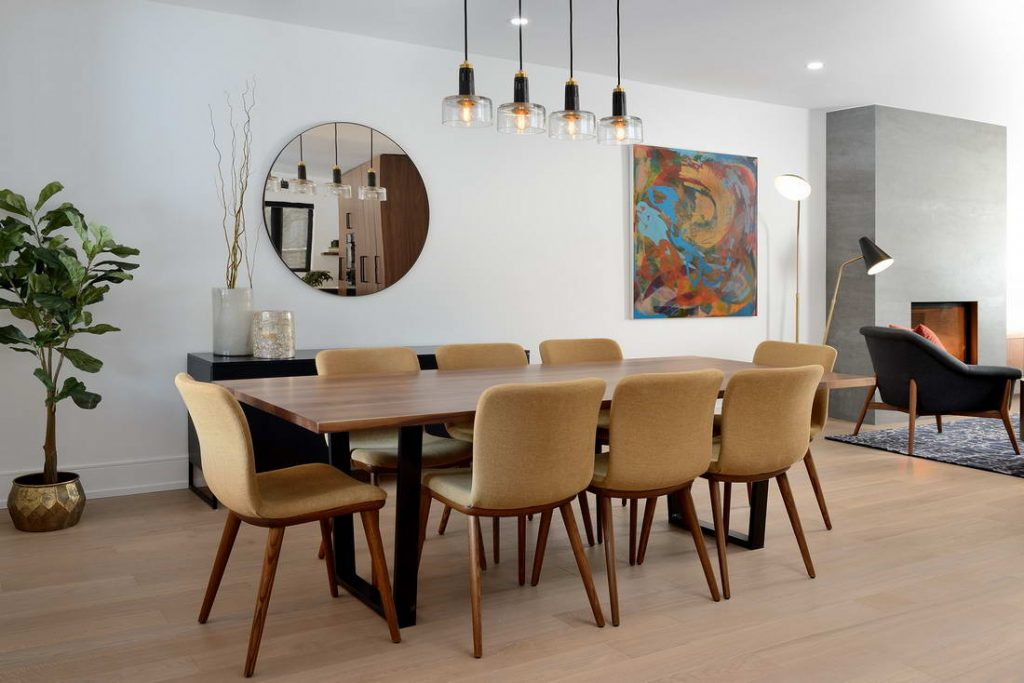 custom home with amazing dining room build by nicks developments - general contractors toronto