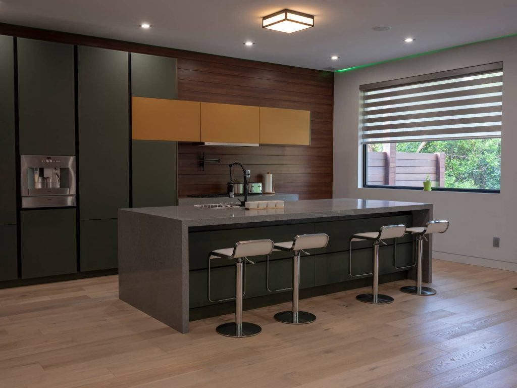 custom-kitchen-with-green-and-yellow-kitchen-cabinets-kitchen-renovation-toronto-and-GTA