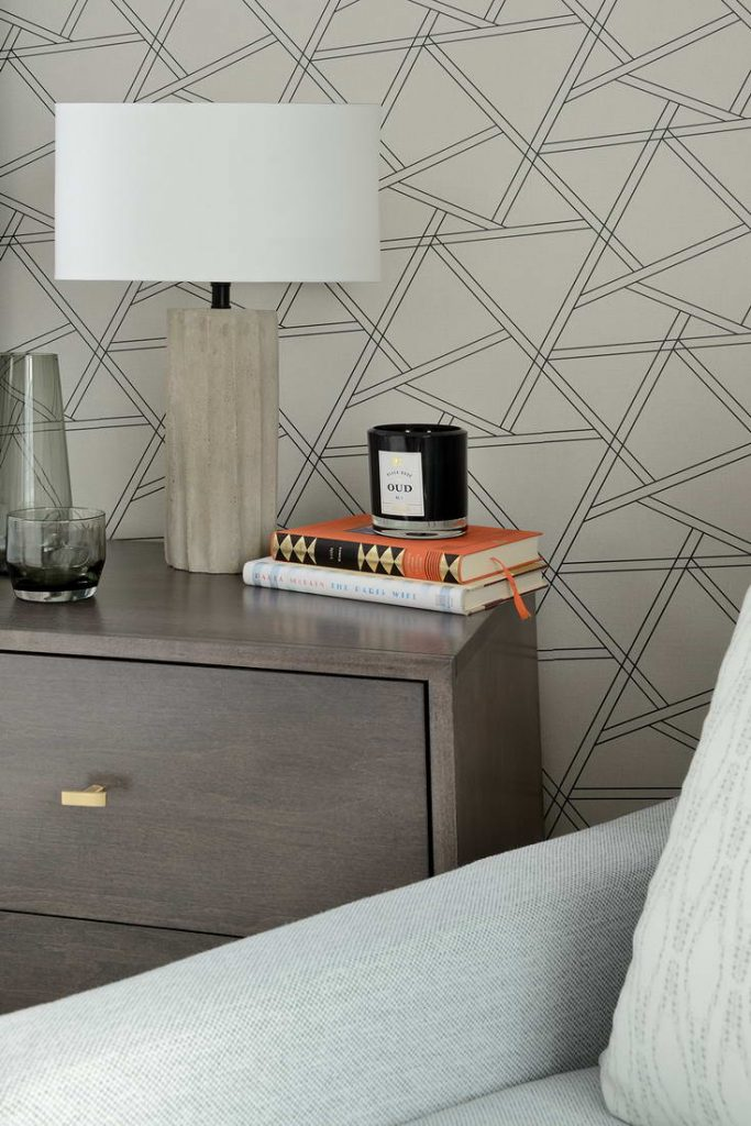 custom wallpaper in bedroom - custom homes toronto