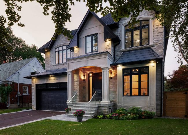 Classic Custom Home with Stone Siding - Home Renovation Company Toronto