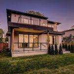 luxury backyard in custom home builders gta