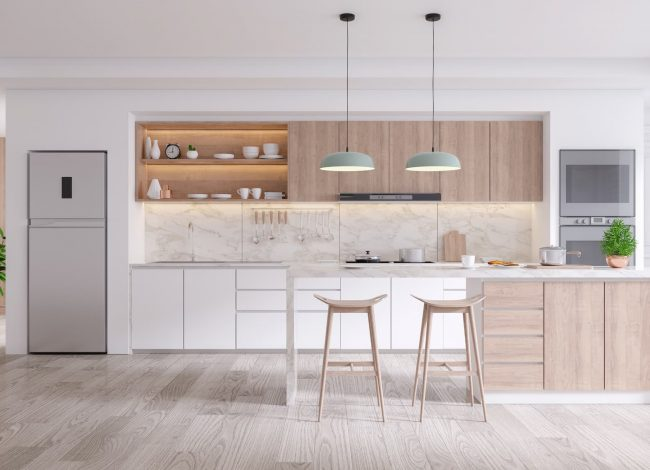 Amazing Kitchen with Backlit Kitchen Cabinets - Luxury Custom Home Builders Toronto