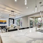 modern-kitchen-with-marble-countertop-and-potlights-kitchen-renovations-toronto