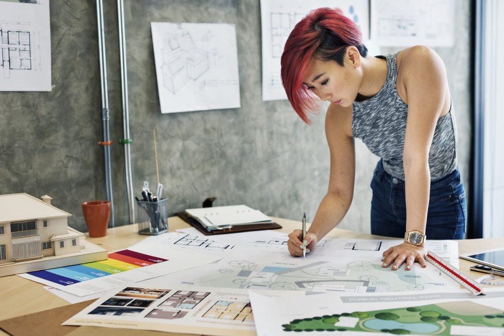 Designer working on new custom home