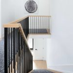 second floor staircase with custom carpet - home renovation Toronto