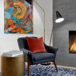 sitting area with build in fireplace - home builders toronto